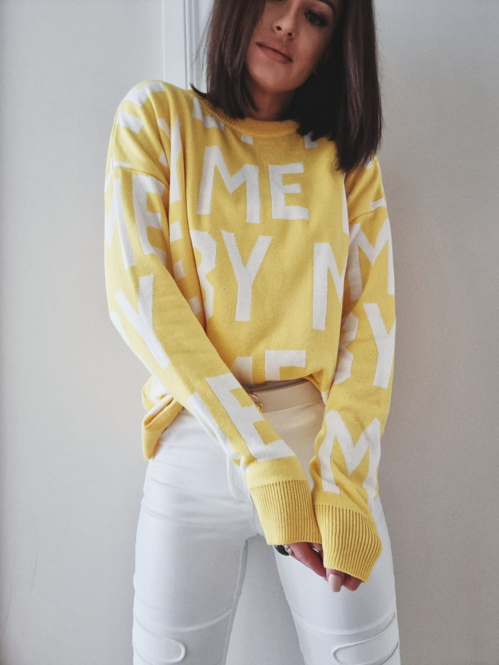 SWETER YELLOW BY ME