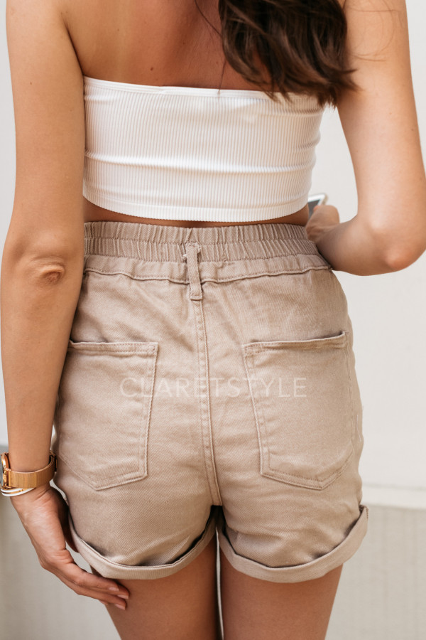 SZORTY HIGH WAIST BEIGE 3