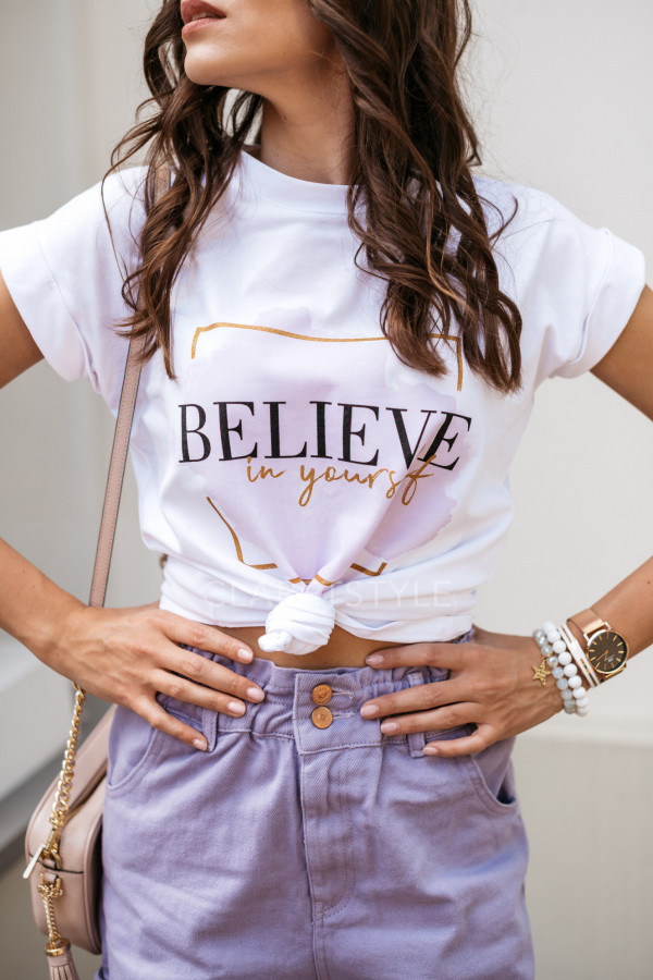 T-SHIRT BELIEVE IN YOURSELF 1