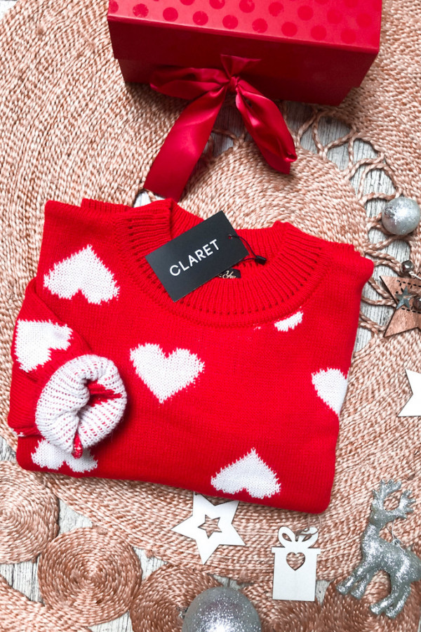 SWETER HEART CANDY RED