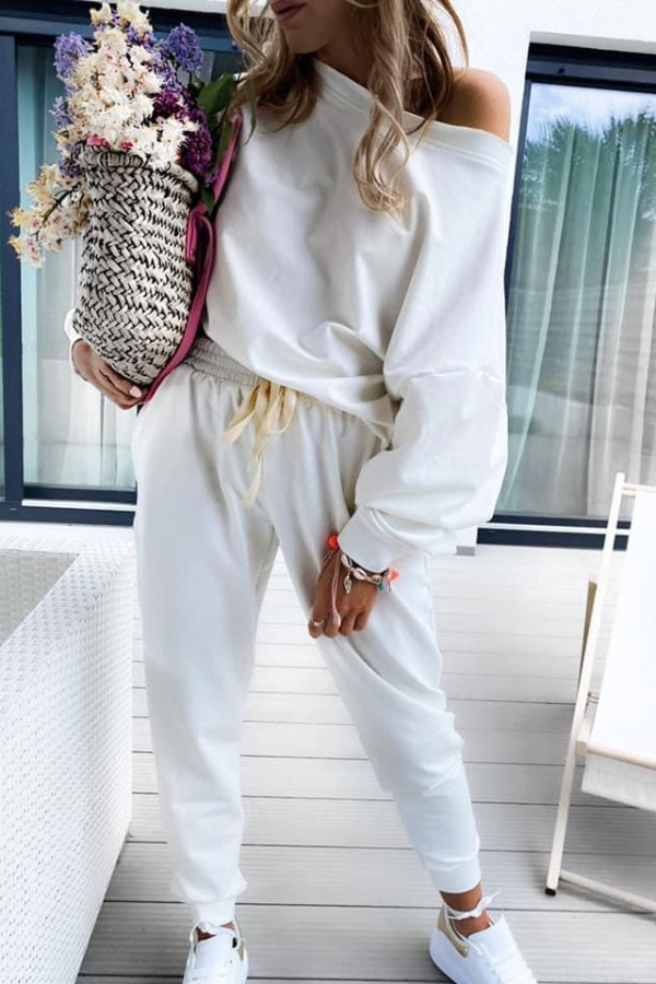 KOMPLET DRESOWY COMFY CHIC ALL WHITE